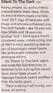 Silent To The Dark - The Soft Parade (NME)